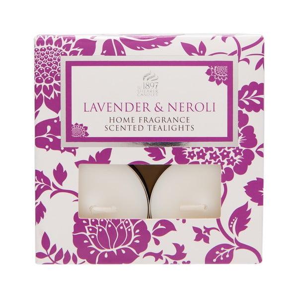Čajové svíčky Spring Couture 8 ks, aroma levandule a neroli