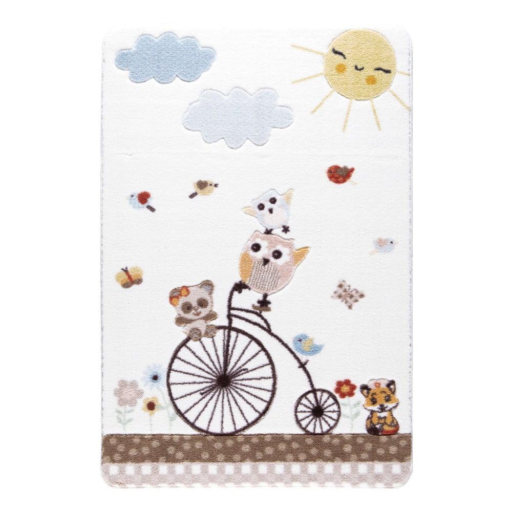 Dětský bílý koberec Confetti Sunny Day,100x150cm