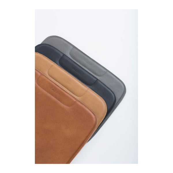 Hnědý sedák z buvolí kůže k barové židli Gazzda Leina