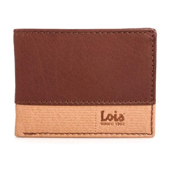Kožená peněženka Lois Natural, 11x8 cm