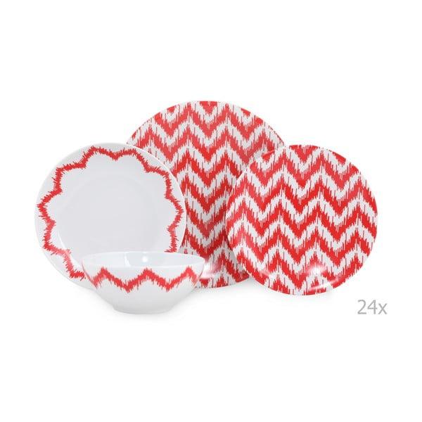 Red Lines 24 db-os porcelán étkészlet - Kutahya