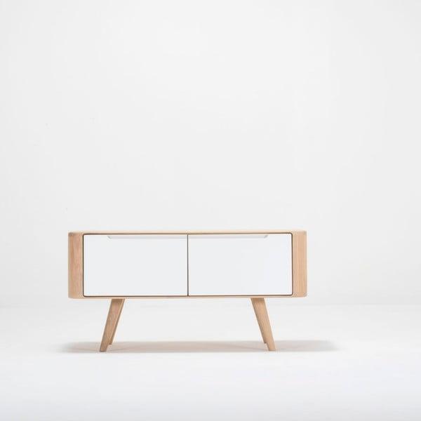 Ławka z szafką z drewna dębowego Gazzda Ena