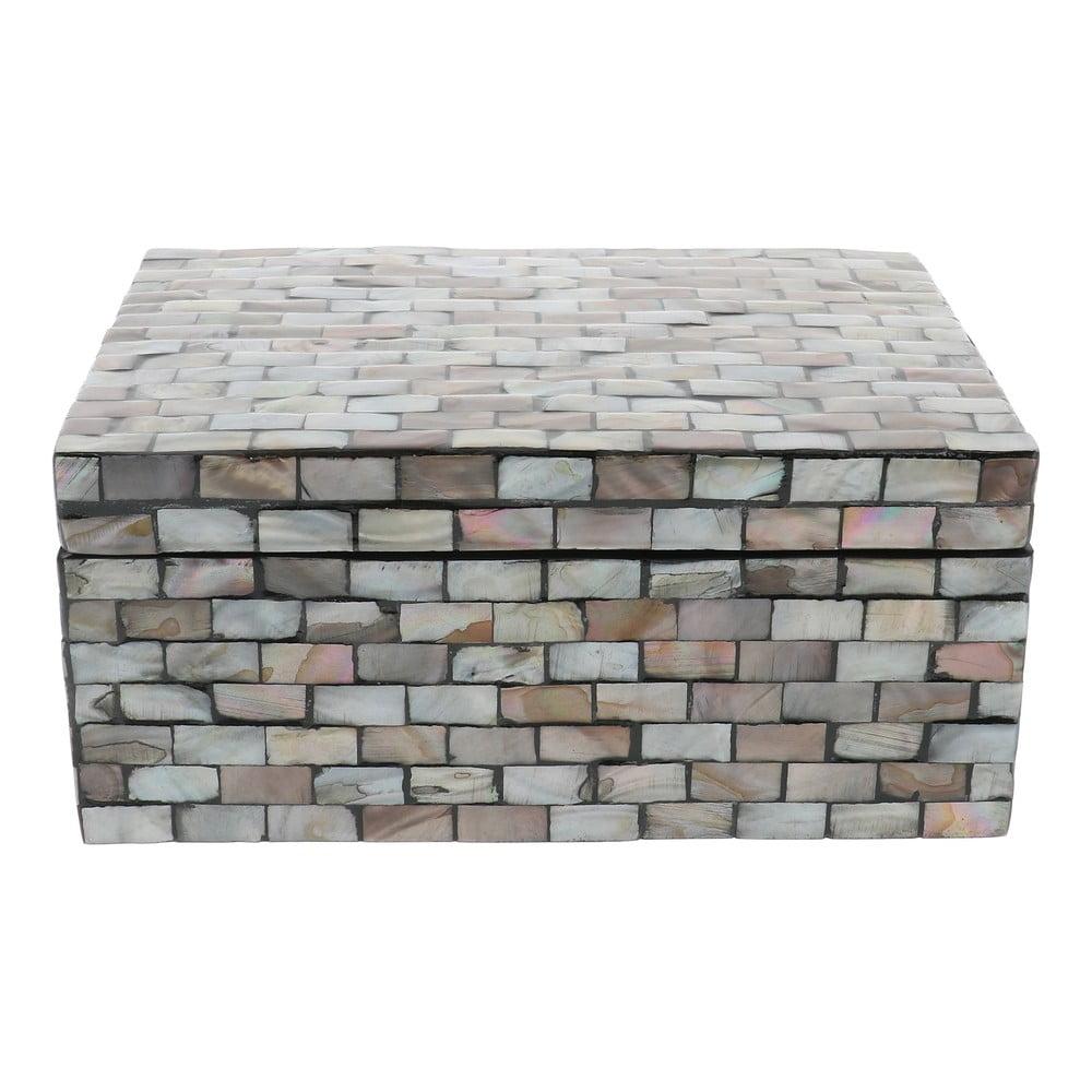 Šedý úložný box Compactor Haiphong Box