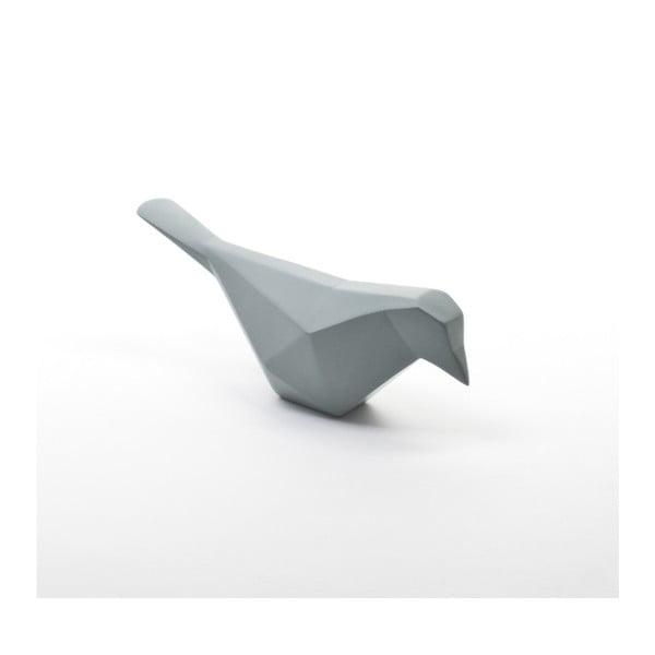 Minimalistická dekorace Oiseau, šedo-modrá