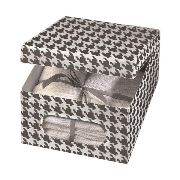 Úložná krabice Ordinett Pied Poule, 50x42cm