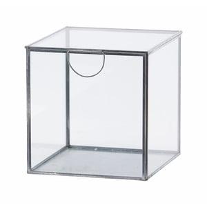 Skleněný box Agape Silver, 19 cm