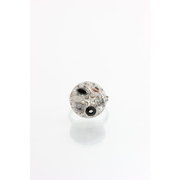 Prsten Laura Bruni se Swarovski Elements Jet, 18 mm