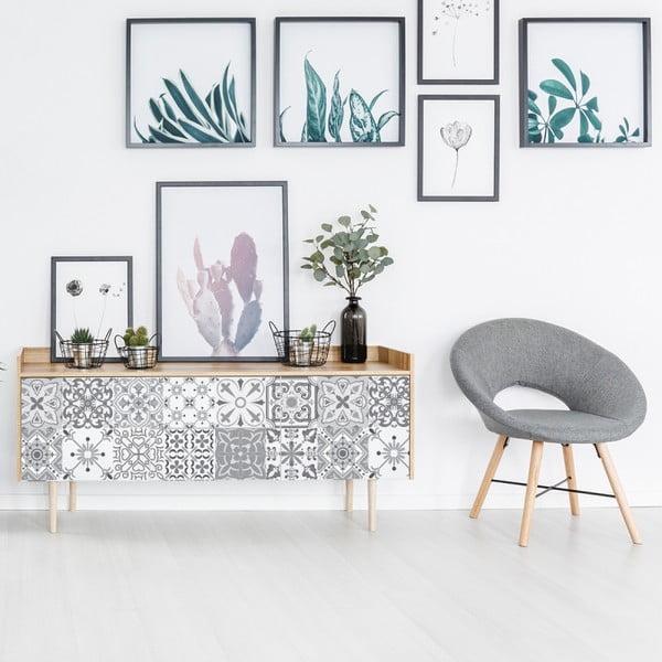 Set 24 autocolante de mobilier Ambiance Tiles Cerena, 15 x 15 cm