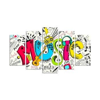 Tablou din mai multe piese Music Color