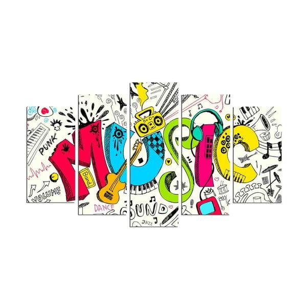 Viacdielny nástenný obraz Music Color