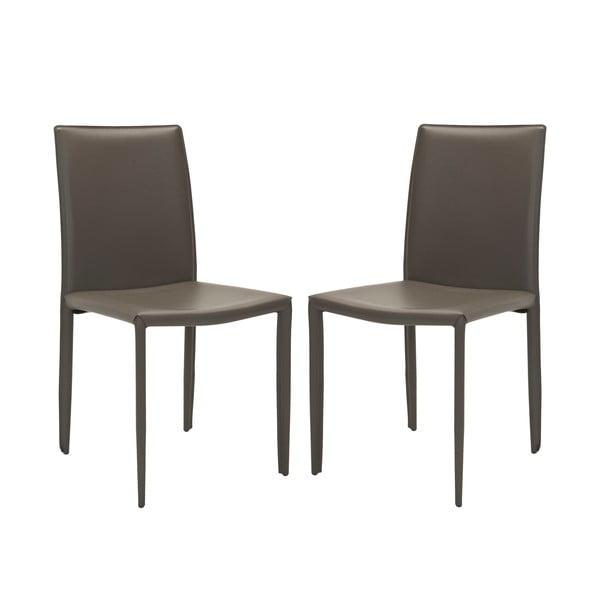 Sada 2 židlí Karna, šedé