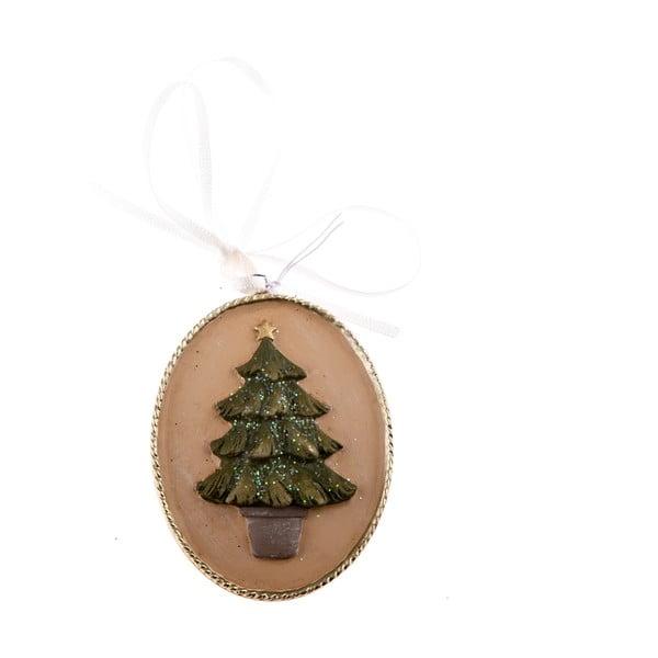 Karácsonyfa motívumos függődísz, hosszúság 5,5 cm - Dakls