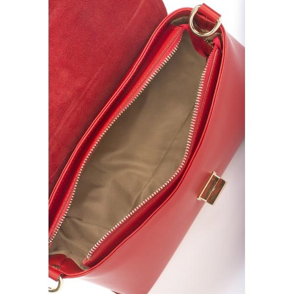 Kožená kabelka Harika, čevená