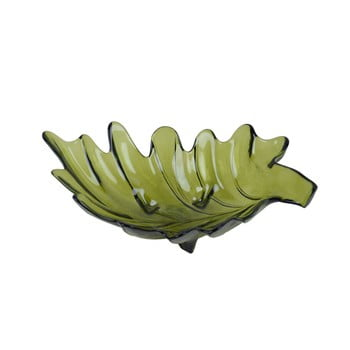 Bol din sticlă reciclată Ego Dekor Parra, 11 x 35 cm, verde imagine