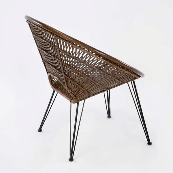 Scaun din răchită Thai Natura, înălțime 80cm, maro