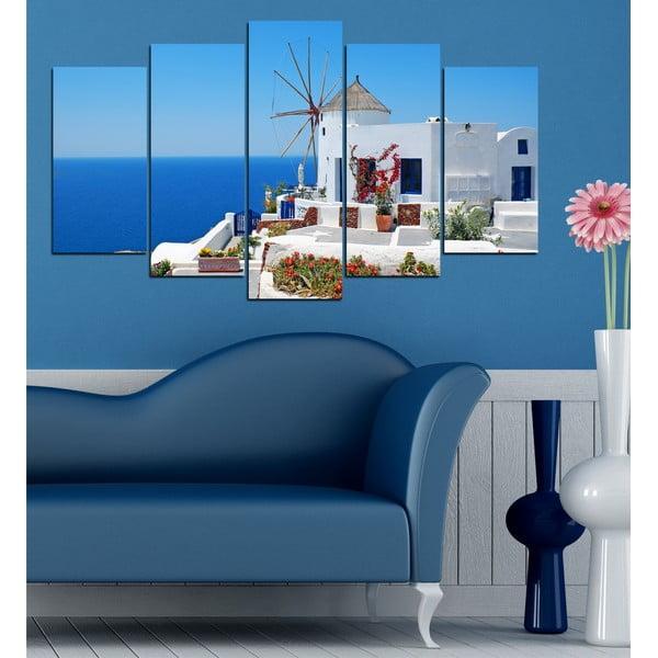 5dílný obraz U moře