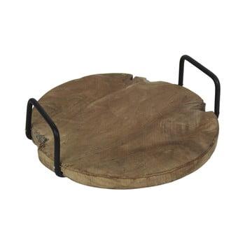 Tavă din lemn de tec, cu mânere, HSM collection