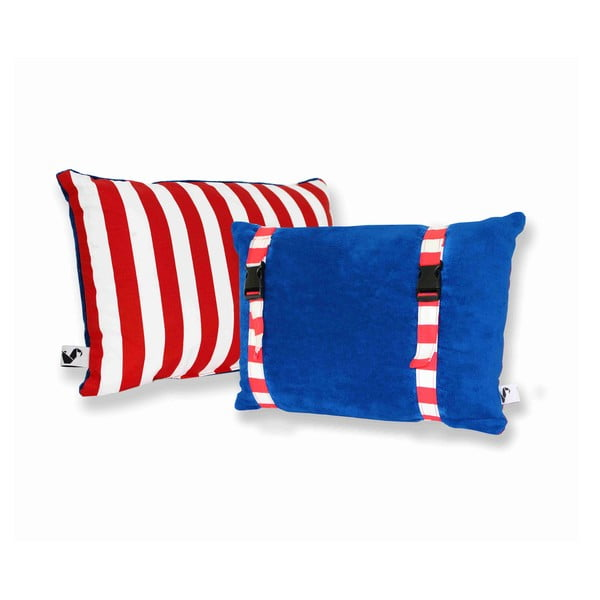 Voděodolný a oboustranný polštářek Dream Pillow Atlantic Red Stripes