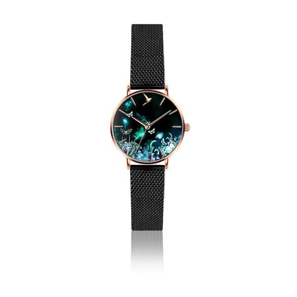 Zegarek damski z paskiem ze stali nierdzewnej w czarnej barwie Emily Westwood Dream