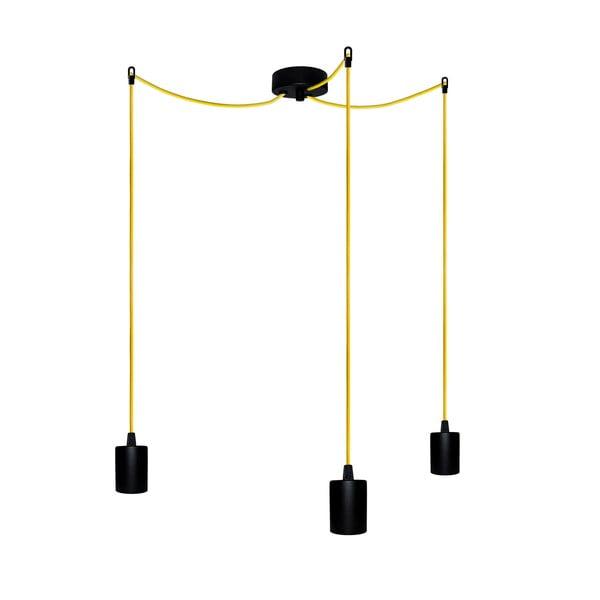 Tři závěsné kabely Cero, žlutý/černý