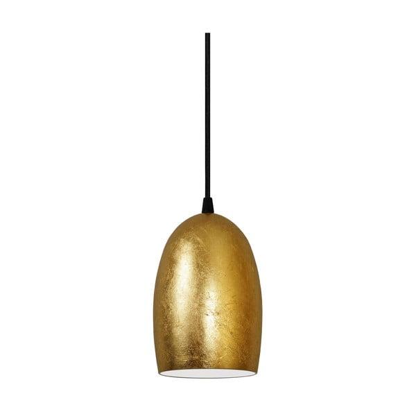 Zlaté závěsné svítidlo s černým kabelem Sotto Luce UME
