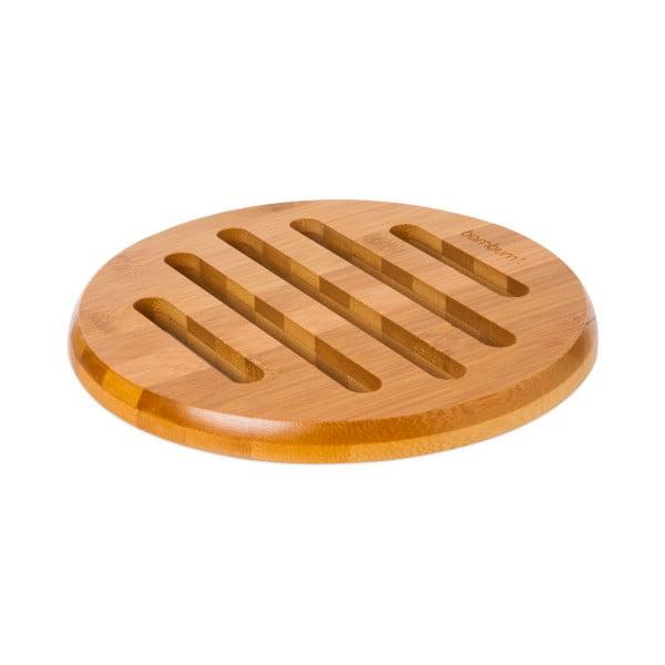 Bambusová podložka pod horké nádoby Bambum Valeria, ⌀ 21 cm