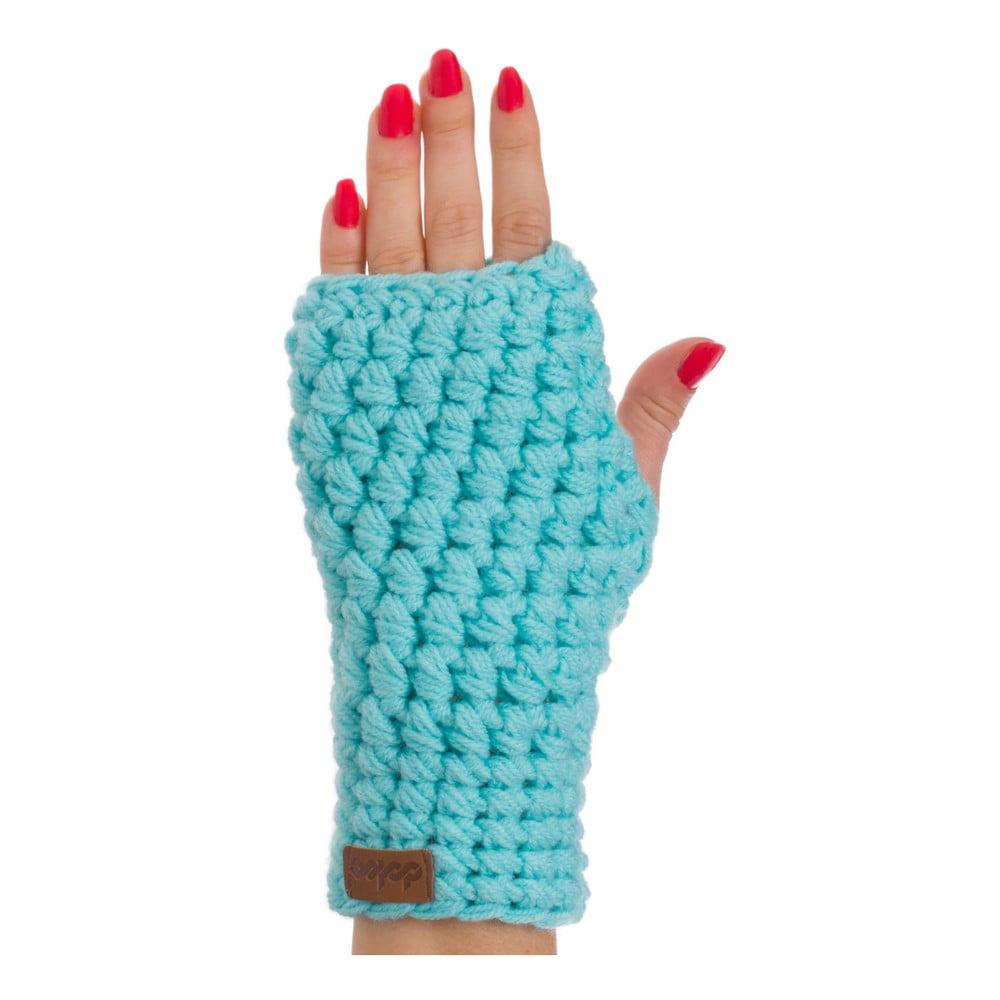 Tyrkysově modrá ručně háčkované návleky DOKE Mint