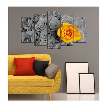 Tablou din mai multe piese 3D Art Gris Flower, 102 x 60 cm