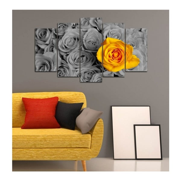 Obraz wieloczęściowy 3D Art Gris Flower, 102x60 cm