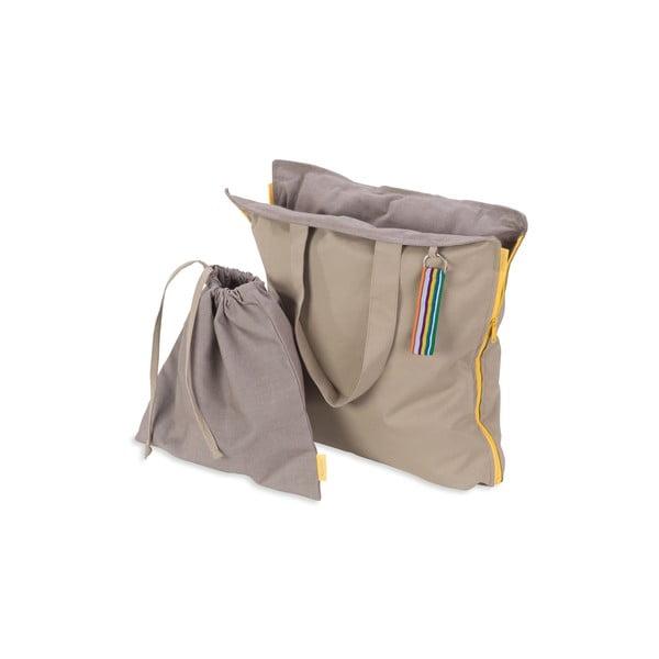 Skládací sedák Hhooboz 100x50 cm, béžový