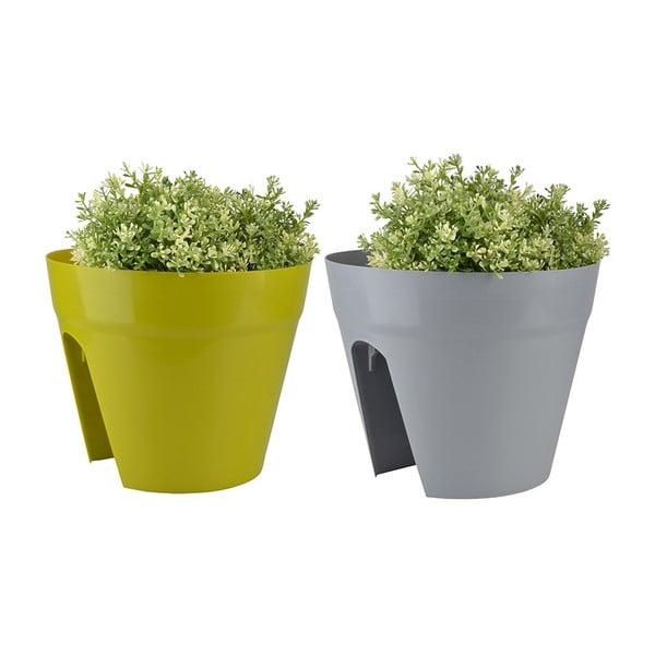 Sada 2 květináčů na zábradlí balkónu Magic