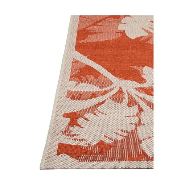 Covor foarte rezistent Floorita Palms Orange, 160 x 230 cm, portocaliu