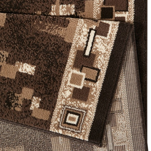 Hnědý běhoun Hanse Home Retro, 80x250 cm