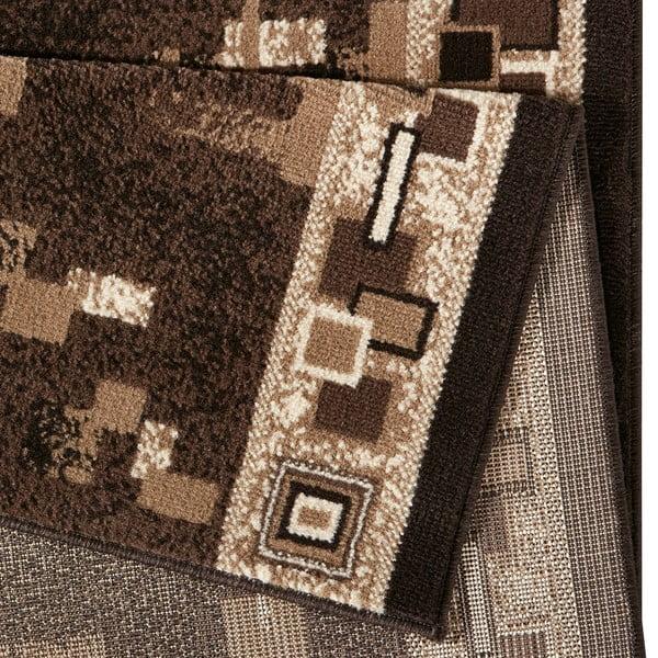 Koberec Basic Retro, 80x400 cm, hnědý