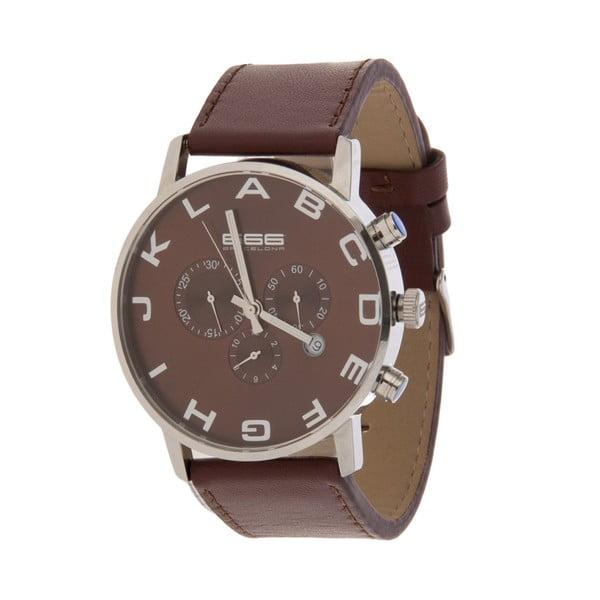 Pánské hodinky Alphabeth Chrono Leather Brown