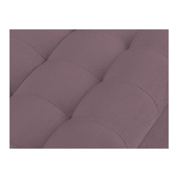 Fialový otoman s úložným prostorem Windsor & Co Sofas Nova, 180 x 47 cm