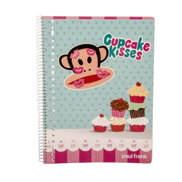Zápisník Paul Frank Cupcake Kisses