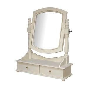 Krémové stolní zrcadlo z topolového dřeva Livin Hill Rimini