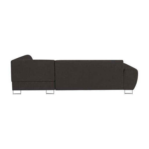Tmavě šedá rohová rozkládací pohovka s úložným prostorem Kooko Home XL Left Corner Sofa