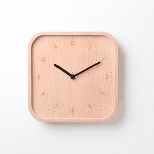 Černé hodiny z bukového dřeva Qualy&CO Allday Square