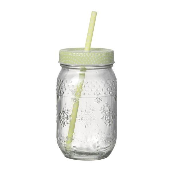 Světle zelená sklenice s brčkem Parlane Straw Green