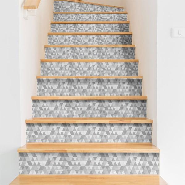 Komplet 2 naklejek na schody Ambiance Stairs Stickers Hege, 15x105 cm
