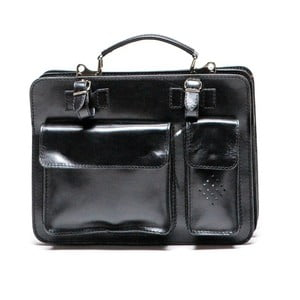 Černá kožená taška Luisa Vannini Ceresso