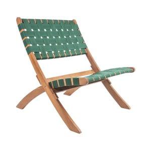 Scaun din lemn de salcâm Leitmotiv Weave, verde