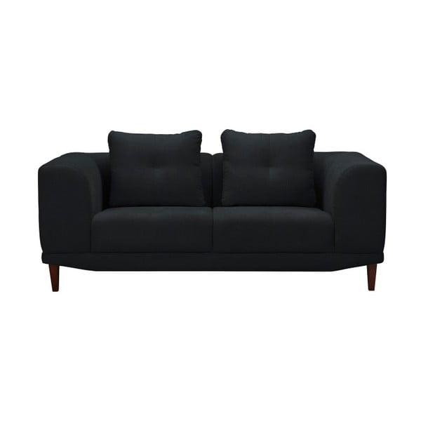 Černá dvojmístná pohovka Windsor & Co Sofas Sigma