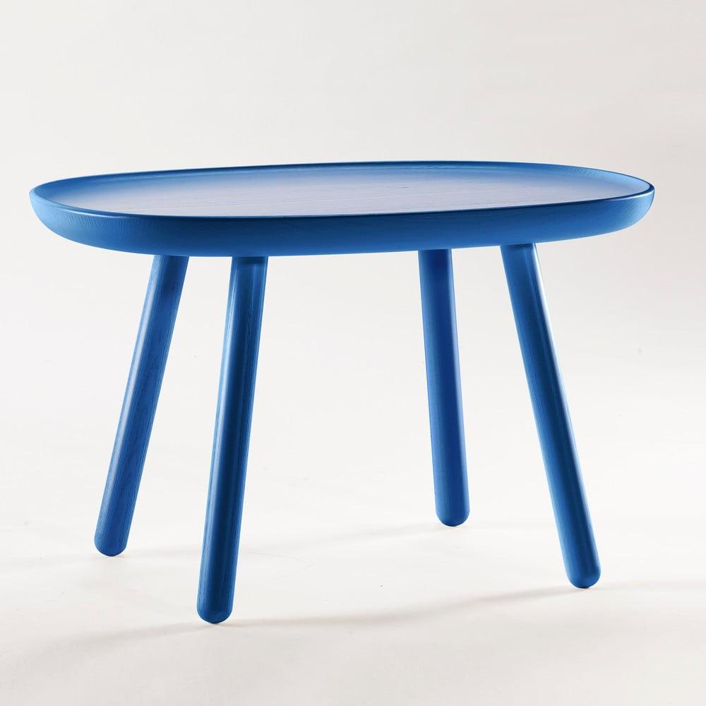 Modrý odkládací stolek z masivu Emko Naïve Medium