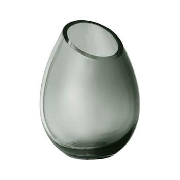 Vază din sticlă Blomus Raindrop, înălțime 16,5 cm, verde