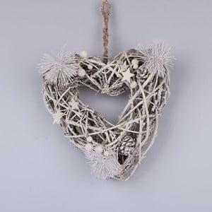 Dřevěné závěsné srdce Dakls