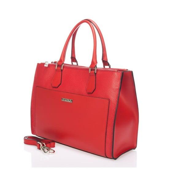 Kožená kabelka Krole Klaudie, červená