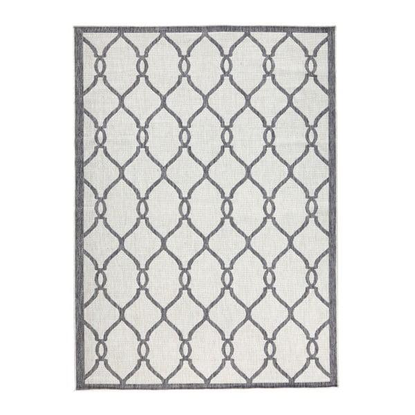 Sivý vzorovaný obojstranný koberec Bougari Rimini, 120 x 170 cm